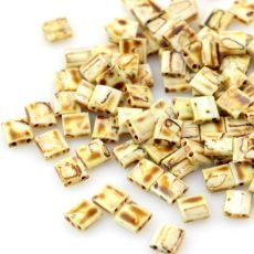 Miyuki Tila Beads 5x5x1,9mm Picasso Opaque Canary Yellow [30szt]