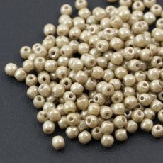 Round Beads Chalk White Latte Luster 3mm [50szt]