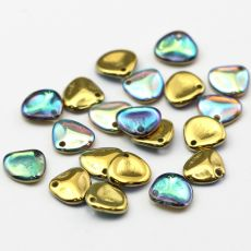 Rose Petals 8x7mm Crystal Golden Rainbow [10szt]