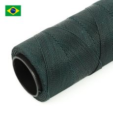 Sznurek do makramy woskowany Dark Green 1mm [1metr]