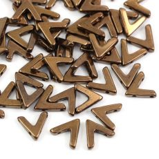 AVA Beads Jet Bronze 10x4mm [4szt]
