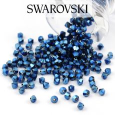 5328 Swarovski Xilion Bead 4mm Metallic Blue 2x [6szt]
