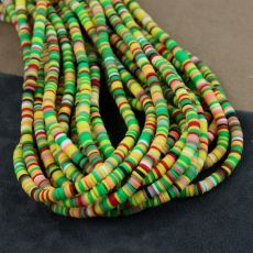 Heishi beads multi yellow 4mm [sznur 40cm]