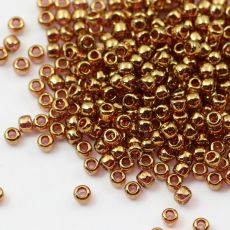Toho Round 8/0 Gold-Lustered Transparent Pink [10g]