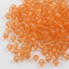 Fire Polish 4mm Crystal Solger Orange [20szt]