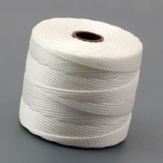 Nici nylonowe S-Lon heavy twist bead/mac cord WHITE 0,62mm/70m [szpula]