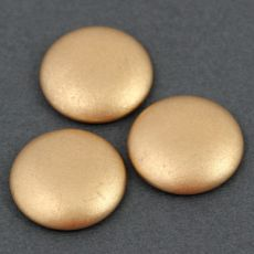 Kaboszon Les Perles par Puca® Light Gold Mat 25mm