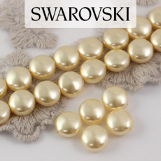 5860 Swarovski  Crystal Light Gold Coin Pearl 10mm [2szt]