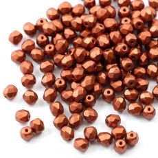 Fire Polish 4mm Copper [20szt]