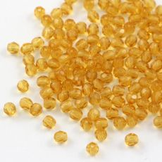Fire Polish 3mm Medium Topaz [40szt]