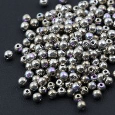 Round Beads Crystal Glittery Argentic 3mm [50szt]