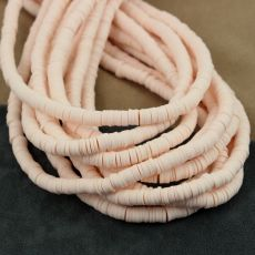 Heishi beads light peach 6mm [sznur 40cm]