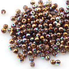 Round Beads Crystal Glittery Bronze 3mm [50szt]