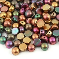 CzechMates Cabochon 6mm Purple Iris Gold [10szt]