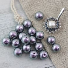 Miyuki Cotton Pearls Rich Grey kula 12mm