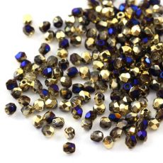Fire Polish 3mm Crystal California Blue [40szt]
