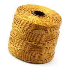 Nici nylonowe S-Lon heavy twist bead/mac cord GOLD 0,62mm/70m [szpula]