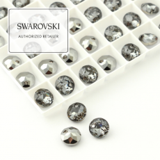 6430 Swarovski Classic Cut Pendant 8mm Silver Night