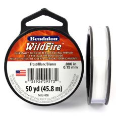 Beadalon Wildfire nić żyłkowa White 0,15mm / 46m