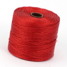 Nici nylonowe S-Lon heavy twist bead/mac cord SHANGHAI RED 0,62mm/70m [szpula]