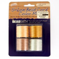 Nici nylonowe S-Lon bead cord HONEY BUTTER MIX 0,62mm/70m [4szt]