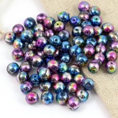 Round Beads Crystal Magic Violet Blue 6mm [20szt]