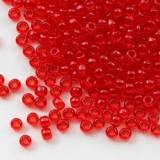 Toho Round 8/0 Transparent Siam Ruby  [10g]