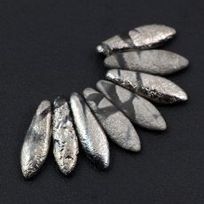 Dagger Etched Crystal Chrome Stripes 5x16mm [6szt]