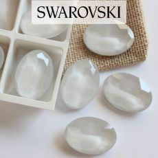 4127 Swarovski Oval Fancy Stones 30x22mm Powder Gray