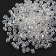 Fire Polish 3mm Crystal Snow White Iris Sfinx [40szt]