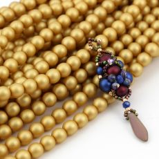 Round Beads Velvet Brass 6mm [sznur/80szt]