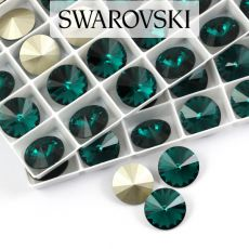 1122 Swarovski Rivoli 12mm Emerald
