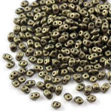 SuperDuo 2.5x5mm Metallic Suede Gold [10g]
