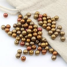 Round Beads Metallic Mix 6mm [20szt]