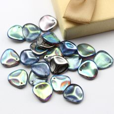 Rose Petals 14x13mm Crystal Graphite Rainbow