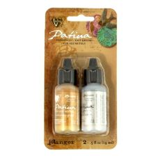 Patyna farby do powlekania metali Gold Silver 2x14ml