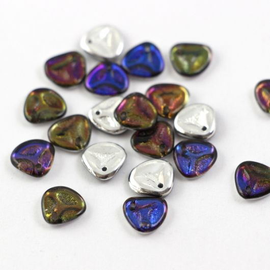 Rose Petals 8x7mm Crystal Bermuda Blue [10szt]