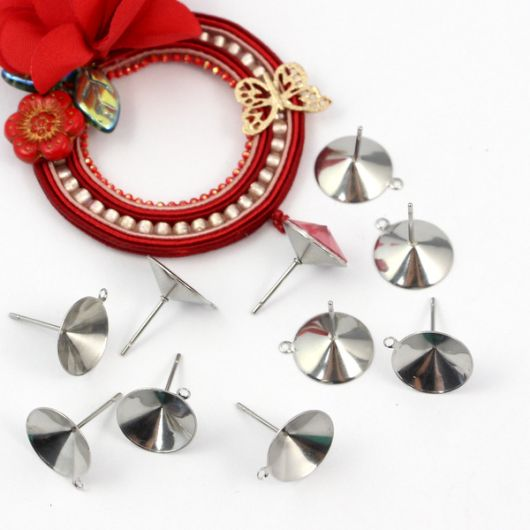 Bigle sztyfty do rivoli 12mm stal chirurgiczna [para]