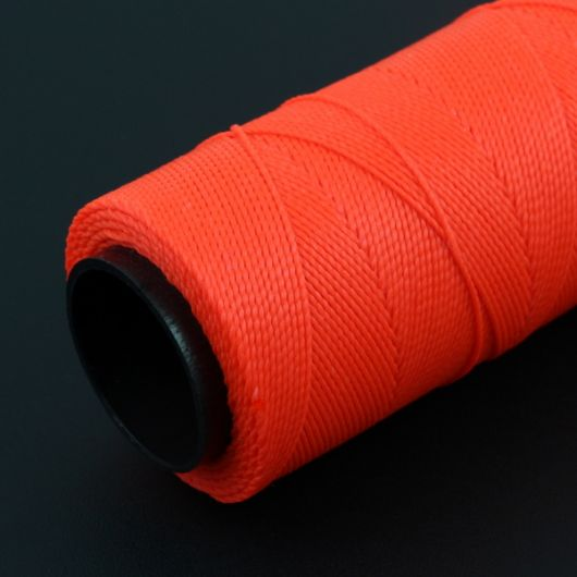 Sznurek do makramy woskowany Neon Orange 1mm [1metr]