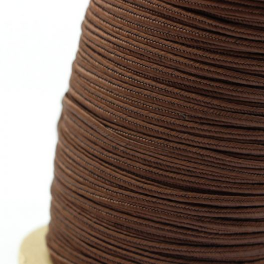 Sznurek sutasz USA rayon 2,5mm breaver brown [1metr]