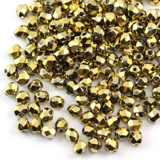 Fire Polish 3mm Crystal Amber Full [40szt]