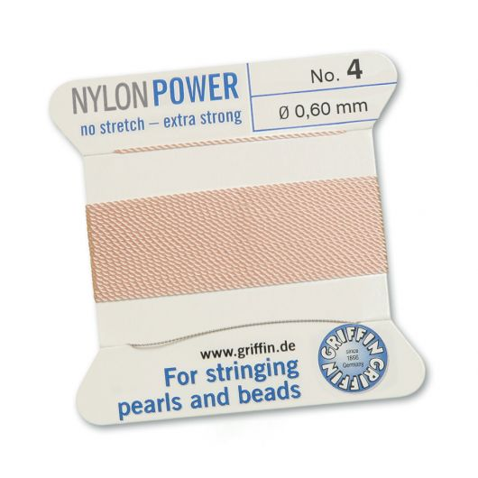 Griffin Nici nylonowe z igłą light pink 0,60mm