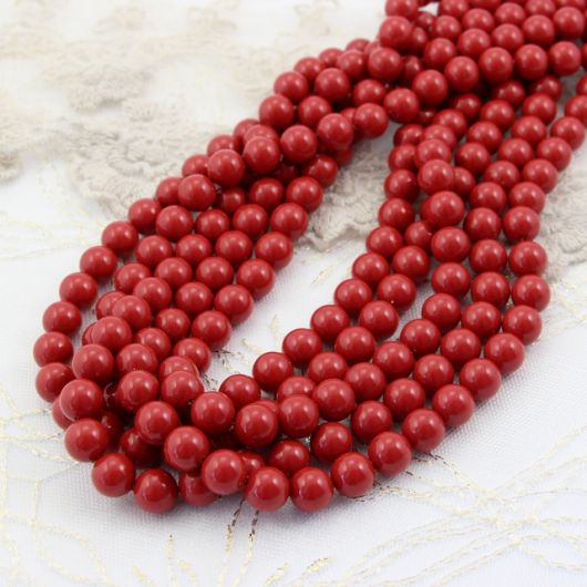 5810 Swarovski Crystal Pearl Red Coral Pearl 8mm [4szt]