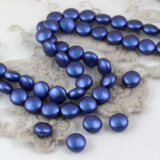 5860 Swarovski  Crystal Iridescent Dark Blue Coin Pearl 10mm [2szt]