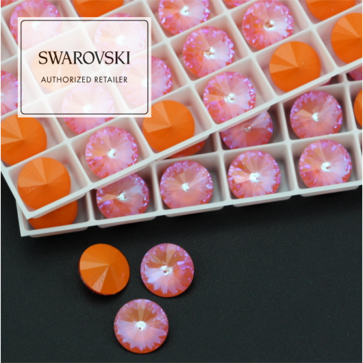 1122 Swarovski Rivoli 12mm Orange Glow DeLite [2szt]